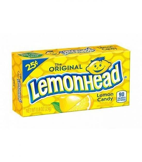 Lemonhead Chewy Original $0.25 Box 23g (0.8oz)