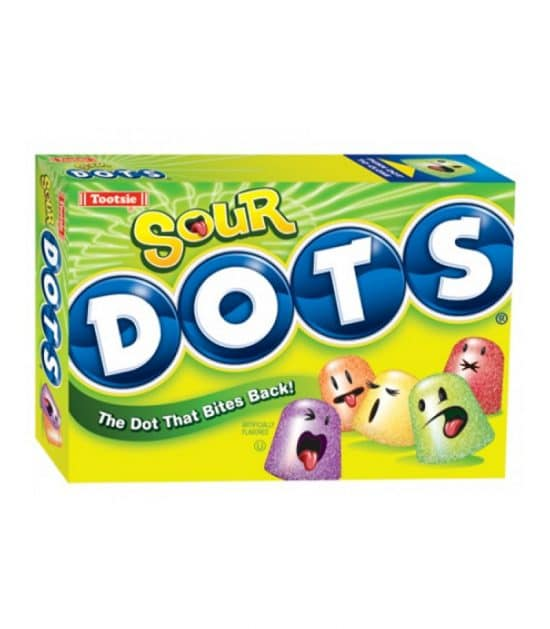 Tootsie Sour Dots Theater Box 170g (6oz)