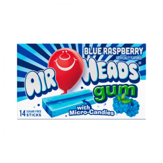 Air Heads Blue Raspberry Gum 34g