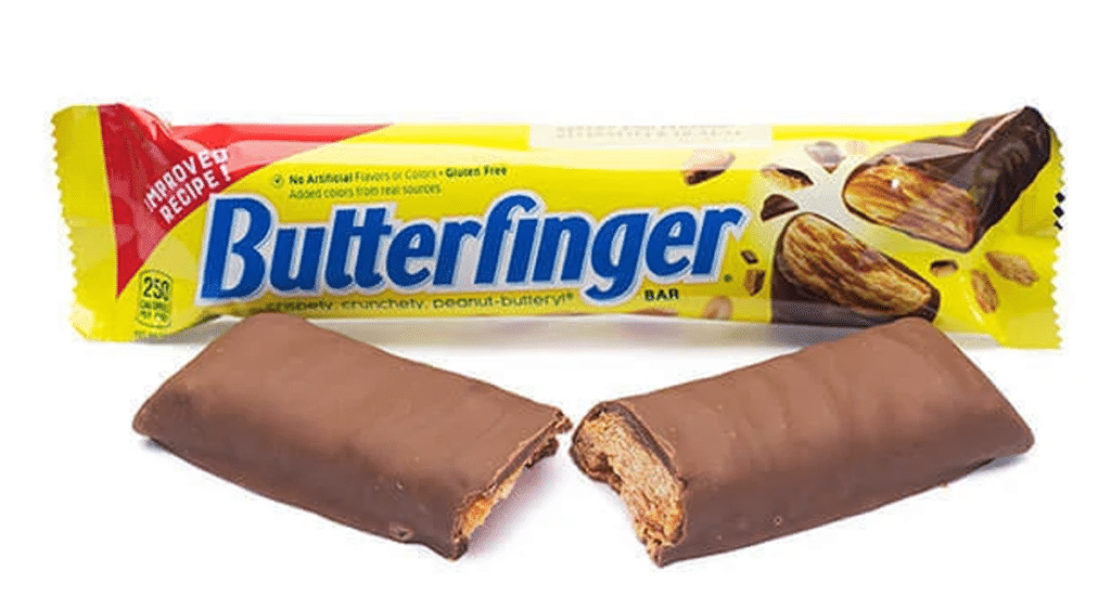 Butterfinger American chocolate bars
