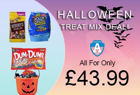 American Food Mart Halloween Promotion Left